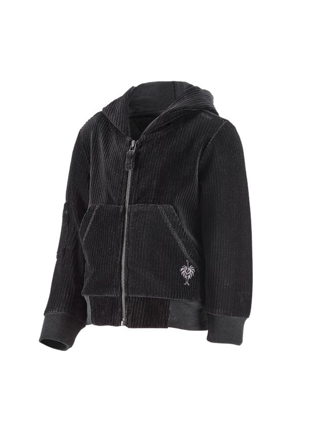 Tilbehør: e.s. homewear jakke, børne + sort