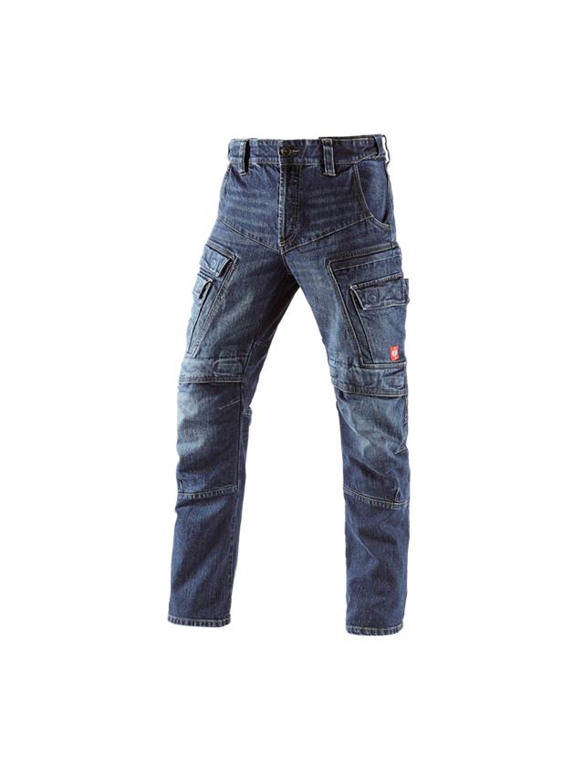 Arbejdsbukser: e.s. Cargo Worker jeans POWERdenim + darkwashed