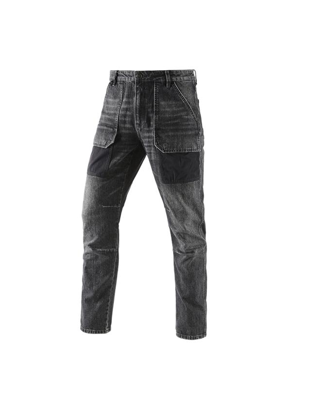 Arbejdsbukser: e.s. 7-Pocket jeans POWERdenim + blackwashed