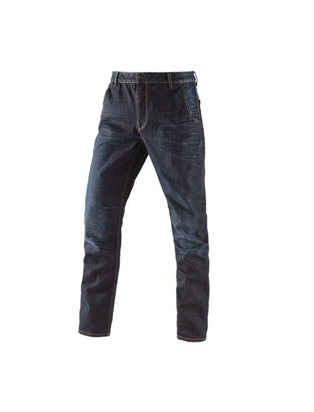 Arbejdsbukser: e.s. 5-Pocket jeans POWERdenim + darkwashed