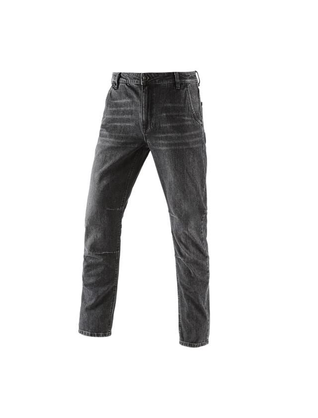 Arbejdsbukser: e.s. 5-Pocket jeans POWERdenim + blackwashed