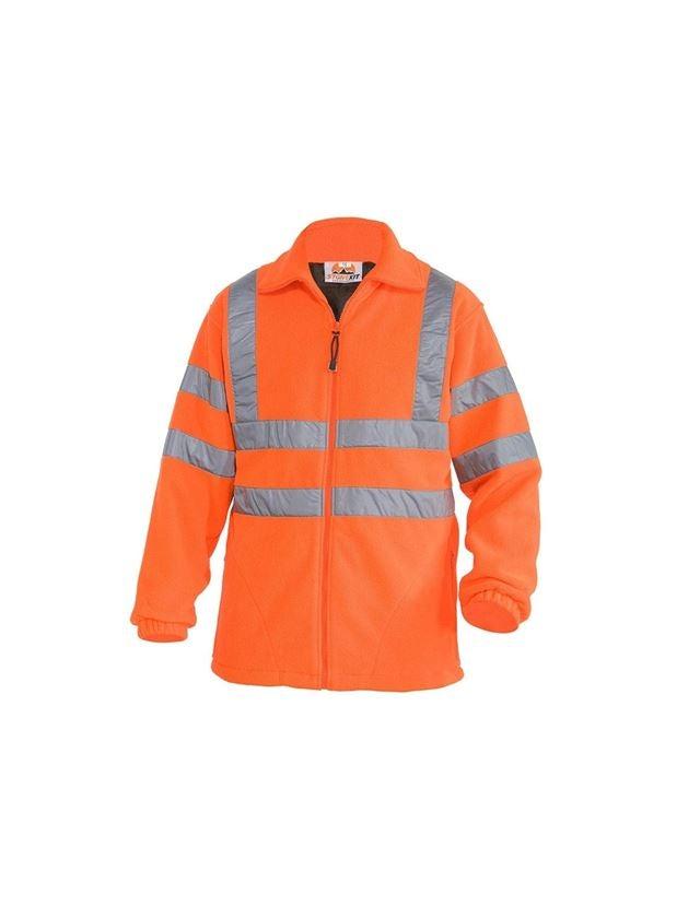 Work Jackets: STONEKIT High-vis jacket Fleece + high-vis orange