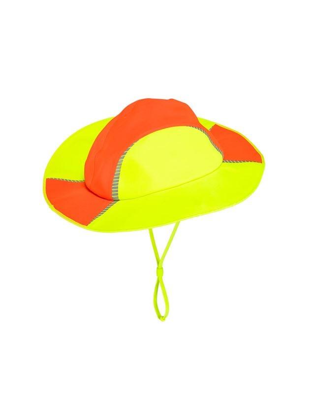 Accessories: Functional rain hat e.s.motion 2020 + high-vis orange/high-vis yellow