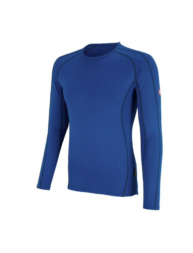 Underwear   Functional Underwear: e.s. functional-longsleeve clima-pro,warm, men's + gentian blue