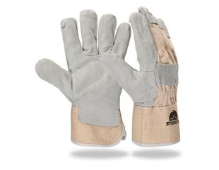 Core split leather gloves