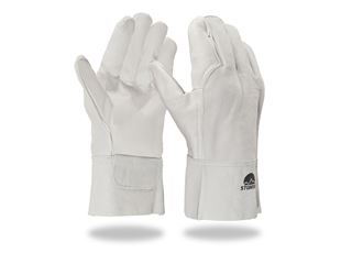 Leather welder's gloves, short