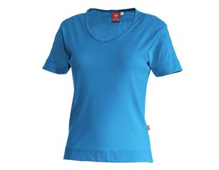 e.s. T-Shirt cotton V-Neck, damer
