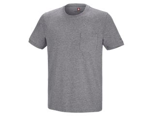 e.s. T-shirt cotton stretch Pocket