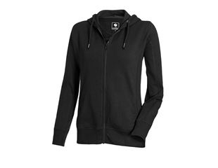 e.s. Hoody-Sweatjakke poly cotton, damer