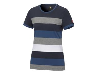 e.s. Pique-Shirt  cotton stripe, damer