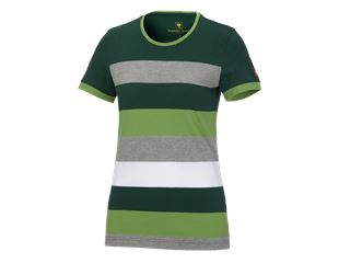 e.s. Pique-Shirt  cotton stripe, ladies'