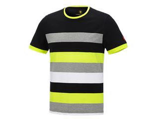 e.s. Pique-Shirt cotton stripe