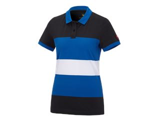 e.s. Pique-Polo cotton stripe, damer