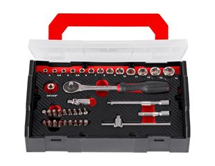 Socket wrench set lockfix 1/4 in e.s. Boxx mini