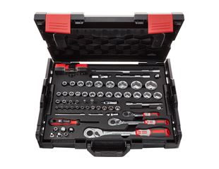 e.s. Socket wrench set pro 1/4+3/8+1/2 in Boxx102