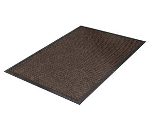 Wet protection comfort mat with rubber edge