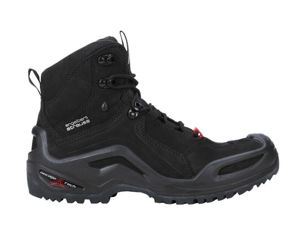 O2: e.s. O2 Work shoes Themisto mid + black