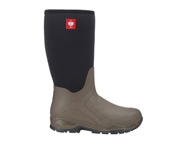 Wellingtons O4: e.s. O4 Neoprene special work boots Fides high + stone/black