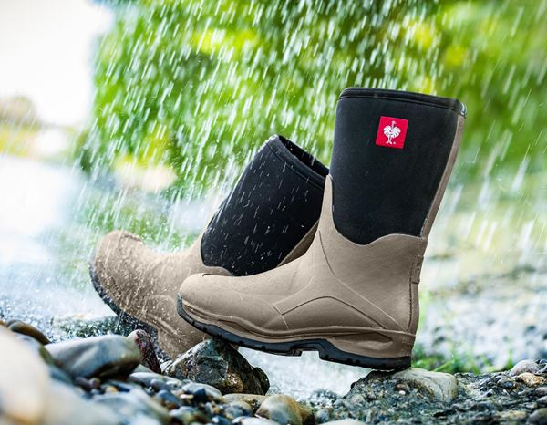 Wellingtons O4: e.s. O4 neoprene special work boots Fides mid + stone/black 1