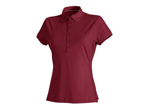 Shirts, Pullover & more: e.s. Polo shirt cotton stretch, ladies' + bordeaux
