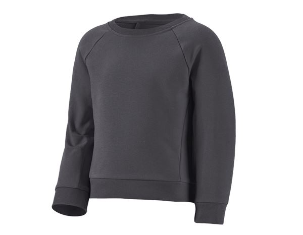Shirts, Pullover & more: e.s. Sweatshirt cotton stretch, children's + anthracite