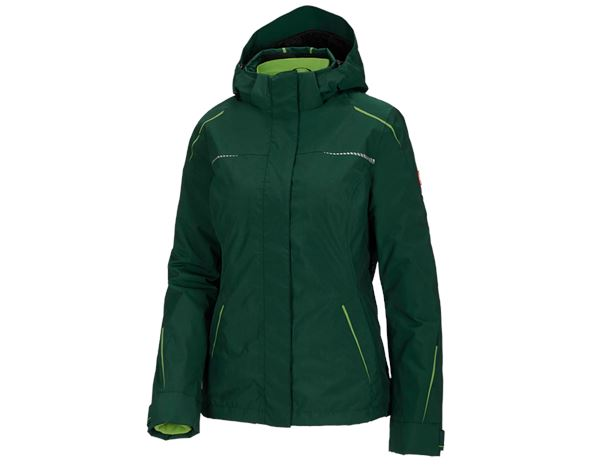 Work Jackets / Body Warmer: 3 in 1 functional jacket e.s.motion 2020, ladies' + green/seagreen