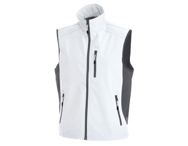 Body Warmer: Softshell bodywarmer dryplexx® softlight + white/grey