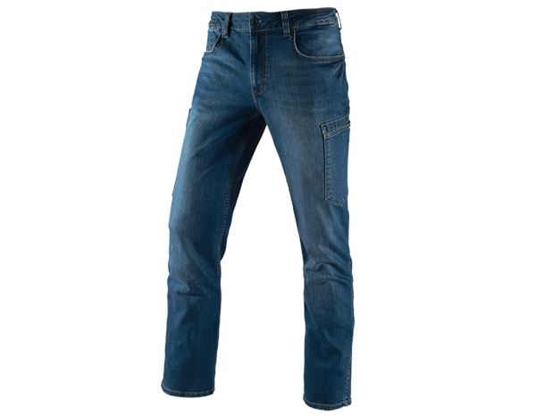 Jeans: e.s. 7-pocket jeans + stonewashed