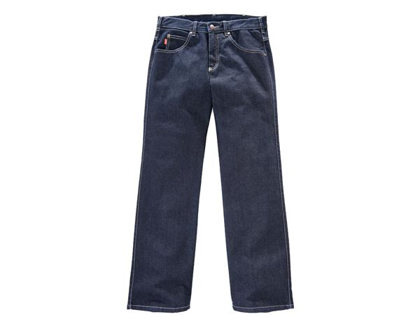 Work Trousers: Men's Jeans Comfort Stretch, without ruler pocket + navy