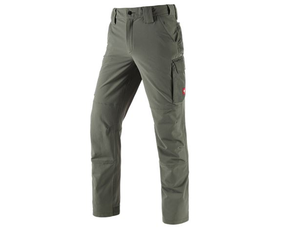 Work Trousers: Functional cargo trousers e.s.dynashield solid + thyme