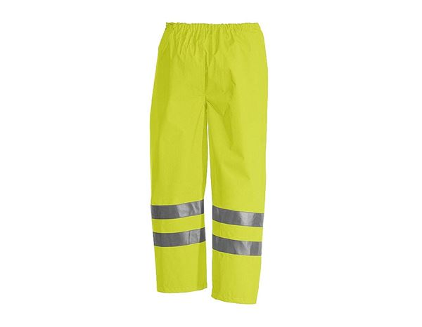 Work Trousers: STONEKIT High-vis trousers + high-vis yellow