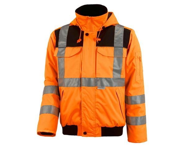 Work Jackets: High-vis pilot jacket e.s.image + high-vis orange