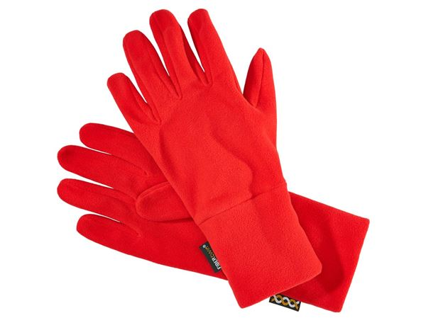 Accessories: e.s. FIBERTWIN® microfleece gloves + fiery red