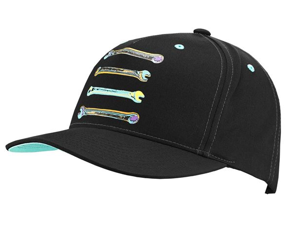 Accessories: e.s. Cap Pop Art + black/cyan/lightorange