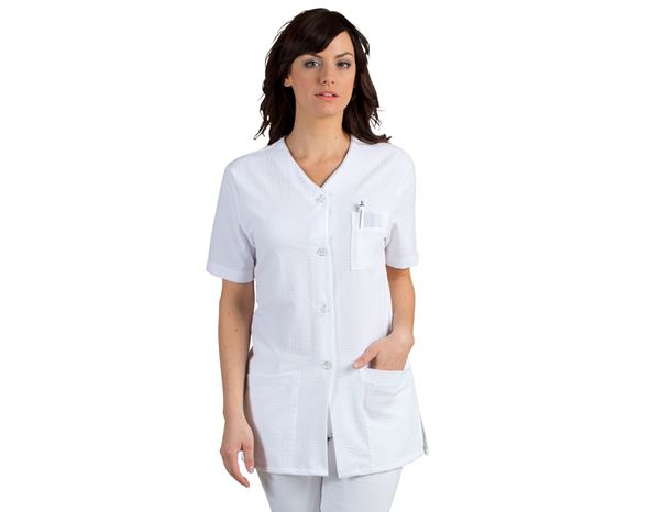 Shirts, Pullover & more: Tunic Tina + white/grey