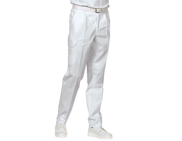Medical / Healthcare Trousers: Work Trousers Noah + white