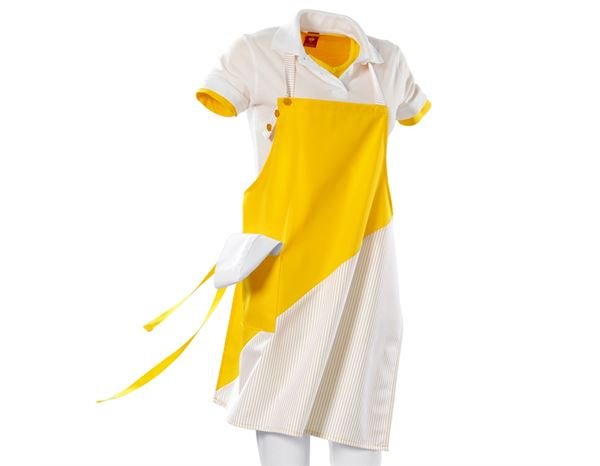 Bib Apron Wels yellow/white