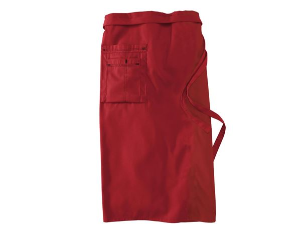 Mid-Length Apron red/black