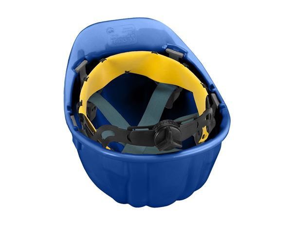 Hard Hats: Safety helmet Baumeister, 6-point, rotary fastener + blue 1