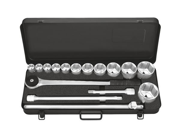 Spanners / Ratchets: Industrial socket wrench case 3/4 inch prof.