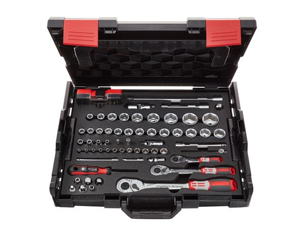 Spanners / Ratchets: e.s. Socket wrench set pro 1/4+3/8+1/2 in Boxx102