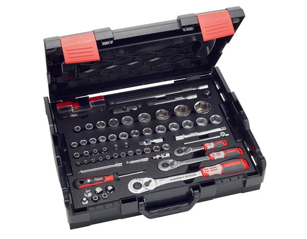 Spanners / Ratchets: e.s. Socket wrench set pro 1/4+3/8+1/2 in Boxx102 2