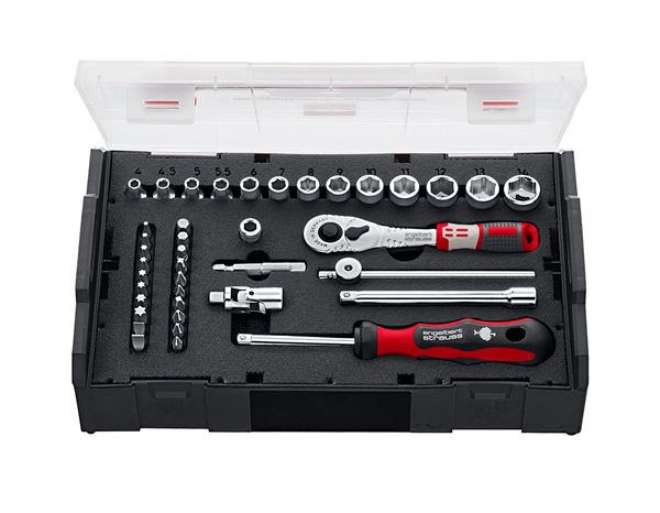 Spanners / Ratchets: e.s. Socket wrench set pro 1/4 in e.s. Boxx mini