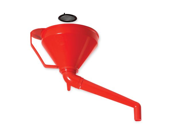 Maintenance: Combi-funnel with angled outlet