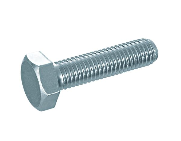 Screws: Hexagonal screws DIN 933 galv. zn.