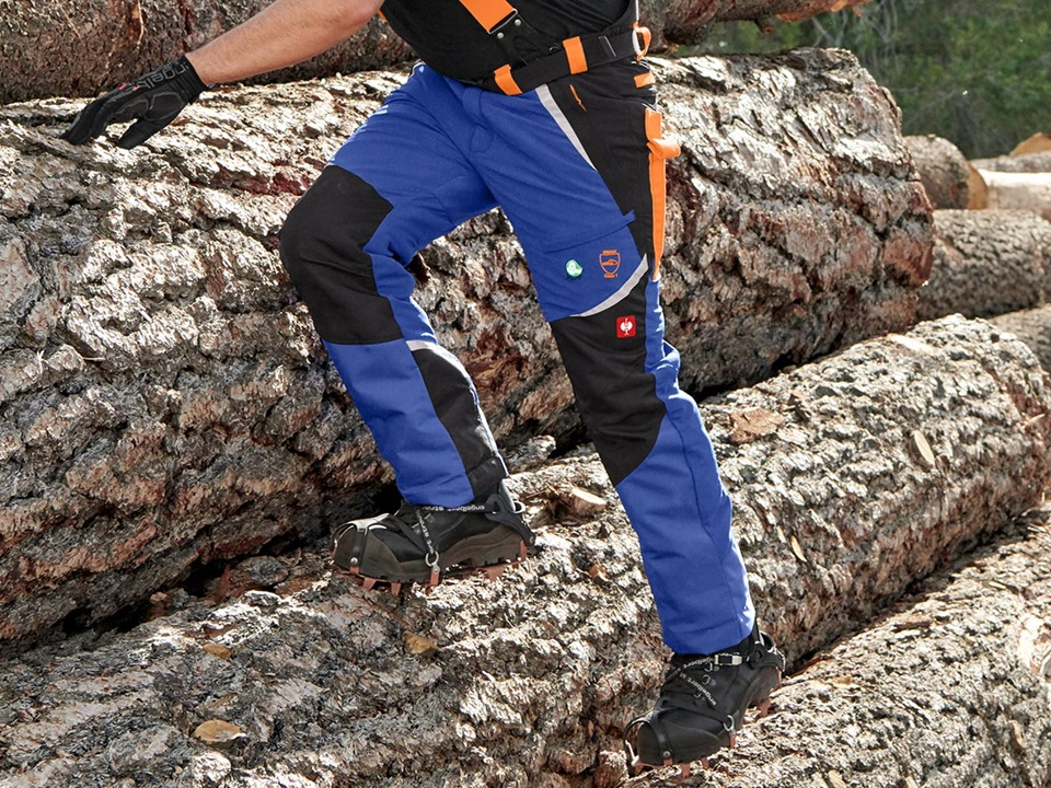 e.s. Forestry cut protection trousers, KWF